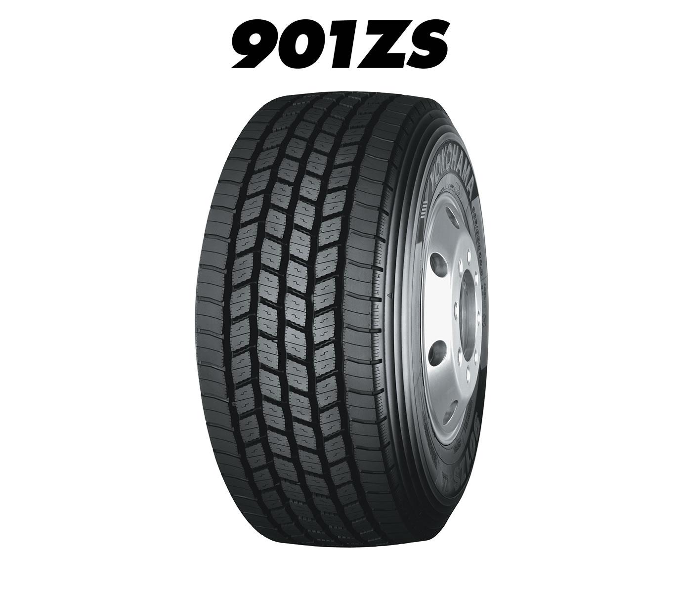 YOKOHAMA-38565-R-225-901ZS-Tehergepkocsi-potkocsi-901ZS-gumi-